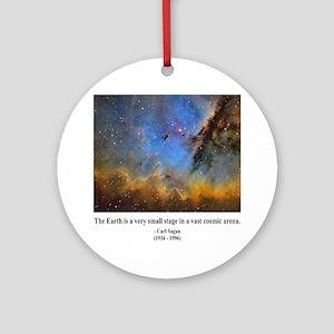 Carl Sagan D Ornament (Round)
