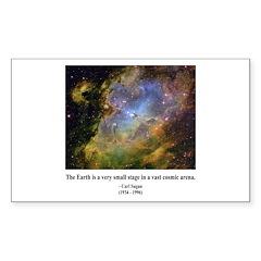 Carl Sagan J Rectangle Sticker 10 pk)