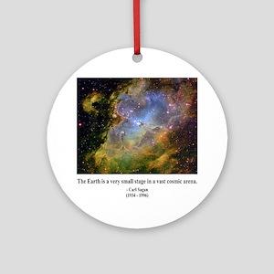 Carl Sagan J Ornament (Round)