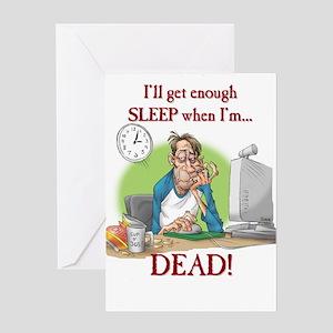 Enough sleep Greeting Card