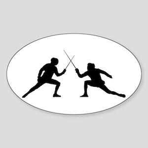 SFAC_2 fencers Sticker