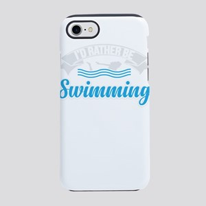 I Would rather be swimming iPhone 8/7 Tough Case