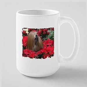 Ch Lhasa Tygerlily Christmas Large Mug