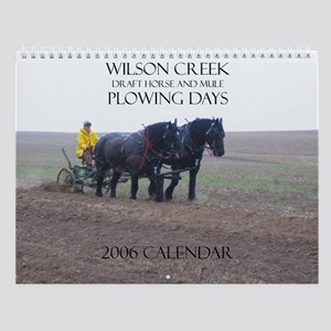 Wilson Creek Plowing Days Wall Calendar