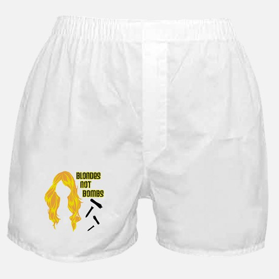 Blondes Not Bombs Boxer Shorts