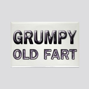 Grumpy Old Fart Rectangle Magnet