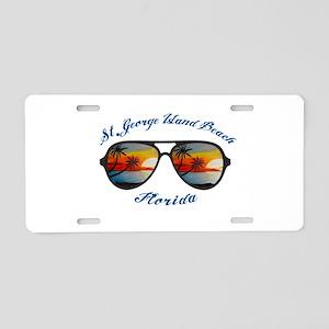 Florida - St. George Island Aluminum License Plate