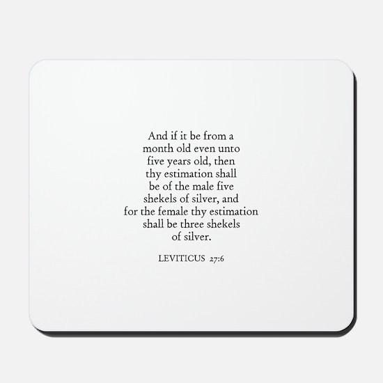 LEVITICUS  27:6 Mousepad