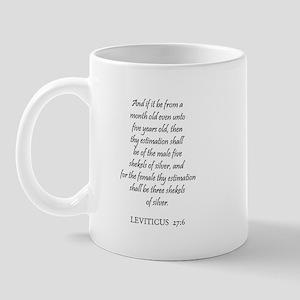 LEVITICUS  27:6 Mug