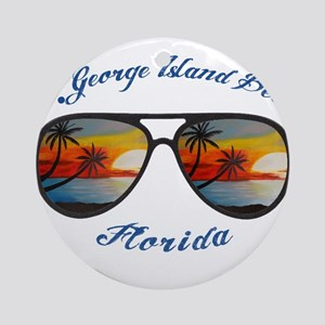 Florida - St. George Island Beach Round Ornament