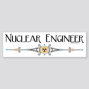 Nuclear Engineer Line Bumper Sticker