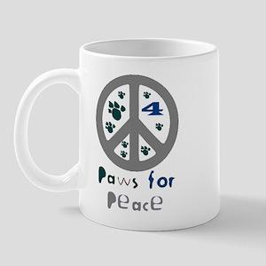 Paws for Peace Grey Mug