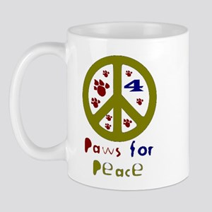 Paws for Peace Olive Mug