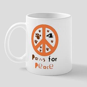 Paws for Peace Orange Mug