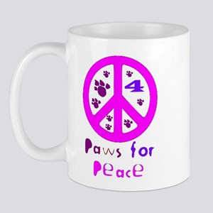 Paws for Peace Pink Mug