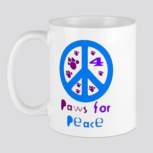 Paws for Peace Blue Mug