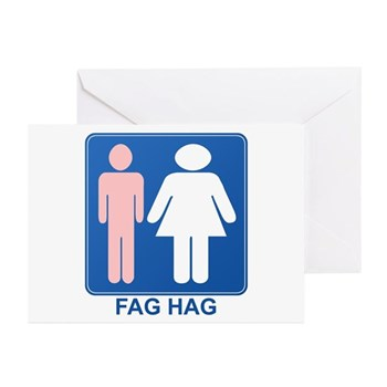 FAG HAG Sign Greeting Cards (Pk of 10)