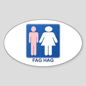 FAG HAG Sign Oval Sticker