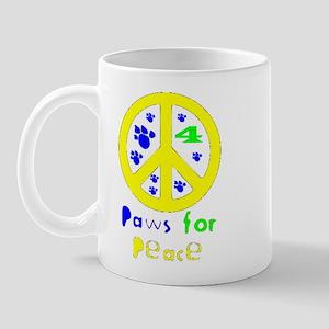 Paws for Peace Yellow Mug