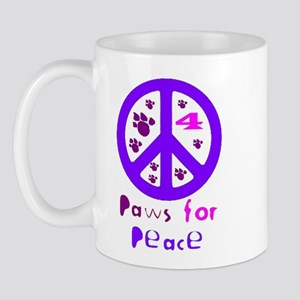 Paws for Peace Purple Mug
