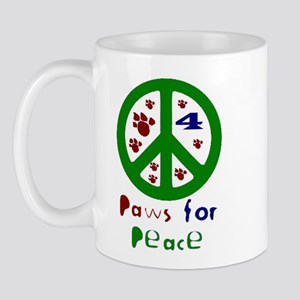 Paws For Peace Green Mug