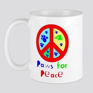 Paws for Peace Red Mug
