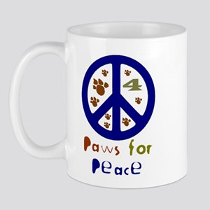 Paws for Peace Navy Mug