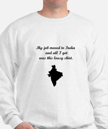 Job to India (Solid Graphic) Sweatshirt