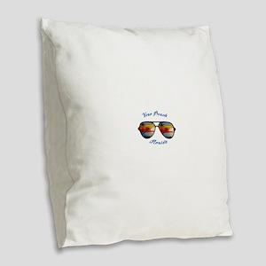 Florida - Vero Beach Burlap Throw Pillow