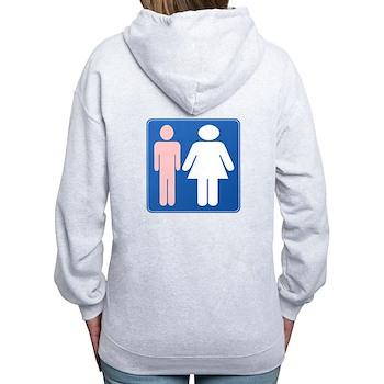 FAG HAG Sign Women's Zip Hoodie