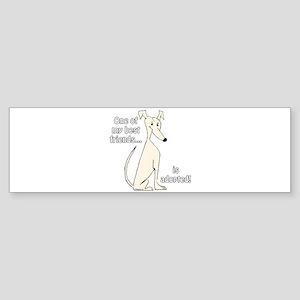 Adopted~Cream Bumper Sticker