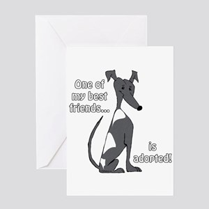 Adopted~Black&White Greeting Card