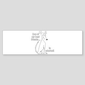 Adopted~White Bumper Sticker
