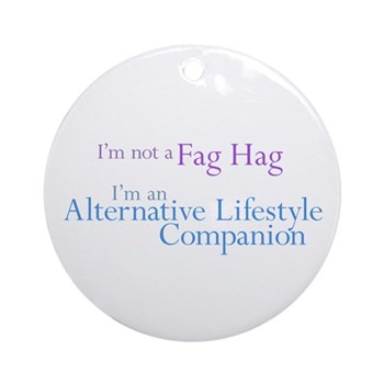 Alternative Lifestyle Compani Round Ornament