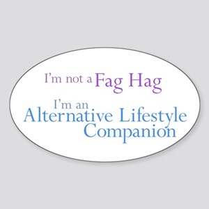 Alt. Lifestyle Companion Oval Sticker