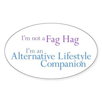 Alt. Lifestyle Companion Oval Sticker (10 pk)