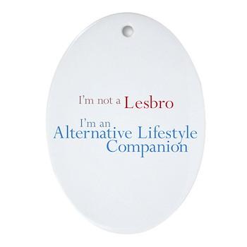 Alt. Lifestyle Companion Oval Ornament