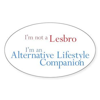 Alt. Lifestyle Companion Oval Sticker (50 pk)