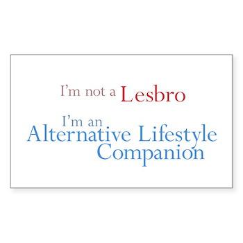 Alt. Lifestyle Companion Rectangle Sticker 50 pk)