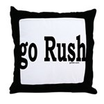 go Rush Throw Pillow