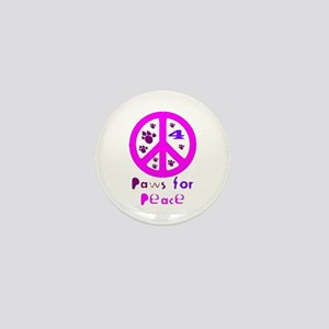 Paws for Peace Pink Mini Button