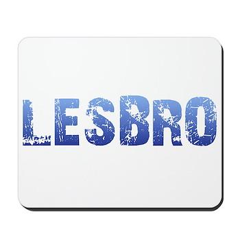 Blue Lesbro Mousepad