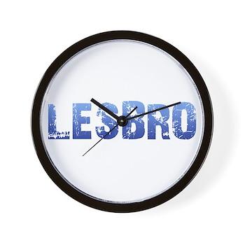 Blue Lesbro Wall Clock
