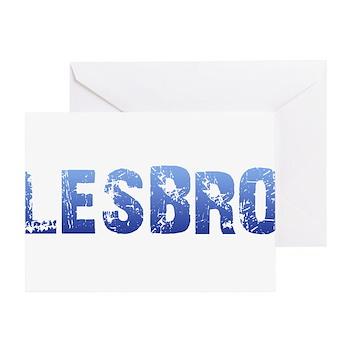Blue Lesbro Greeting Card