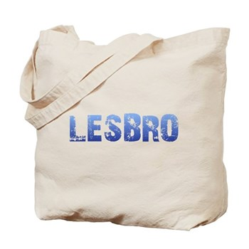 Blue Lesbro Tote Bag