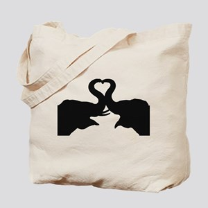 Love Elephant Valentine Tote Bag