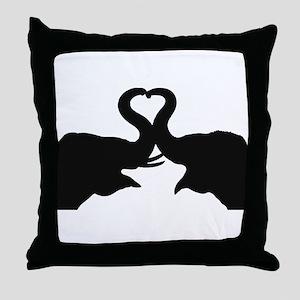 Love Elephant Valentine Throw Pillow
