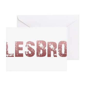Red Lesbro Greeting Cards (20 pack)