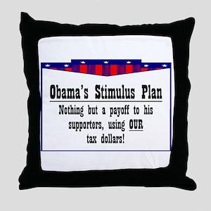"""Obama Payoff"" Throw Pillow"