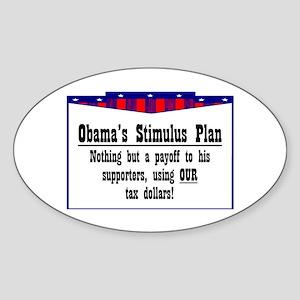 """""""Obama Payoff"""" Oval Sticker"""